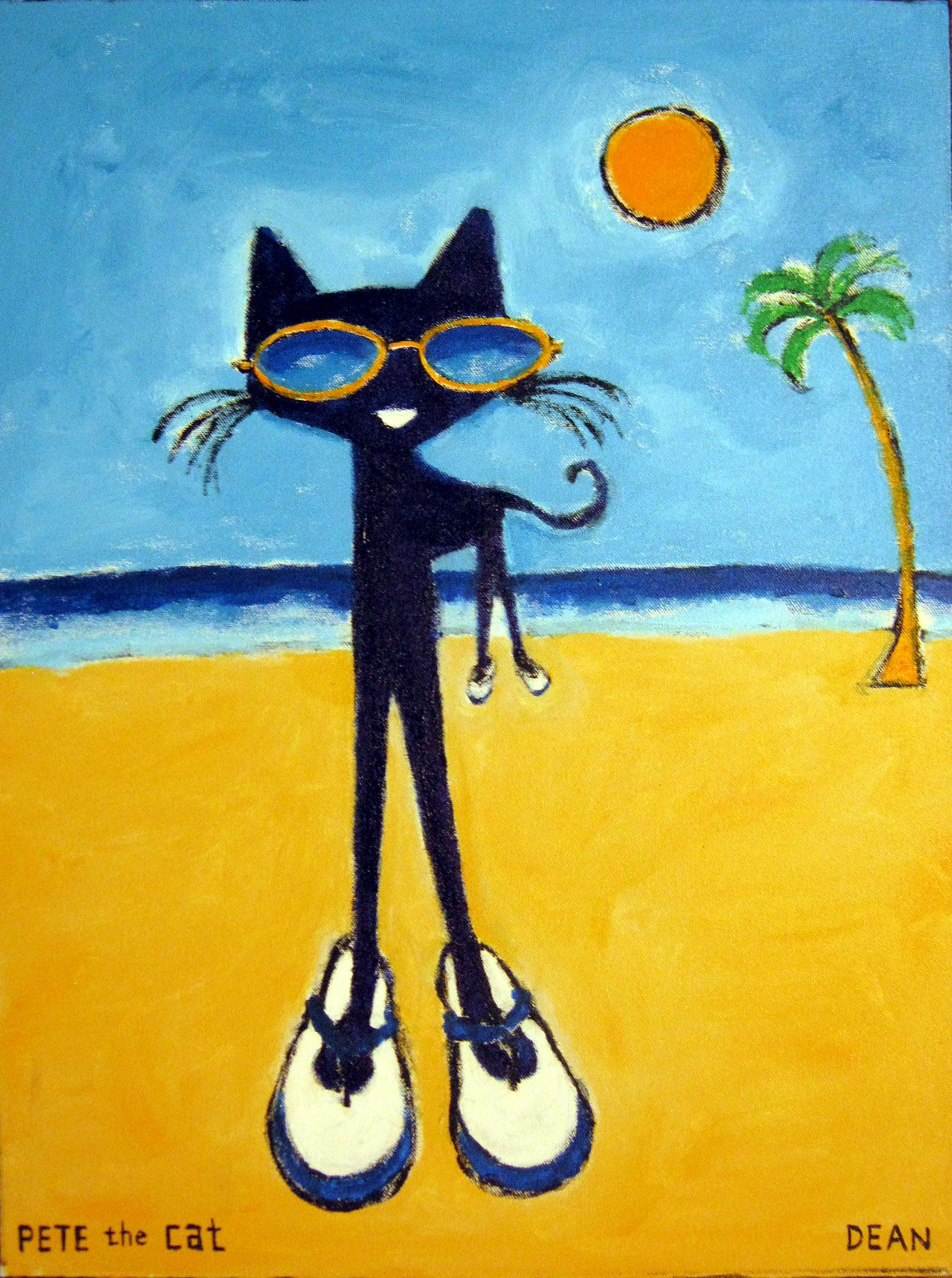 Pete The Cat At The Beach